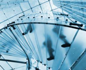 Szkło warstwowe - przykład schody