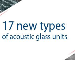 New types of acoustic glass units