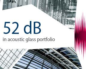 52 dB in acoustic glass portfolio