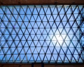 Glass roof museum