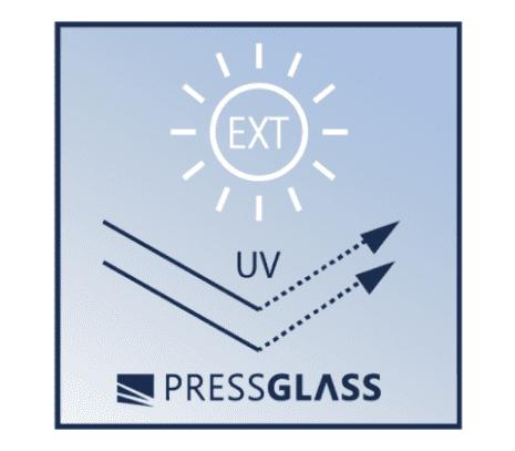 występuje w wersji do zastosowania wewnętrznego i zewnętrznego z dodatkowym filtrem UV