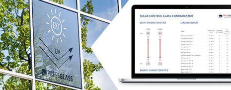 Neue Angaben im Konfigurator für Sonnenschutzgläser