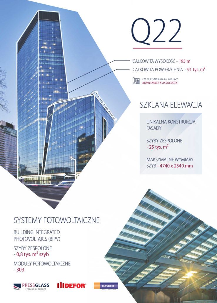 Wieżowiec Q22, czyli szklane innowacje - infografika (mat. pras.)